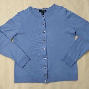 Karen Scott | Light Blue Cardigan Sweater